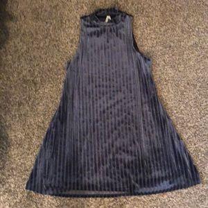 NWOT Blue Velvet Dress